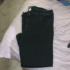 torrid black denim straight leg jeans